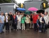 Mairegen inklusive: Beim Ausflug des Bürgervereins Rot nach Speyer. Foto: Privat