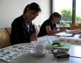 Impressionen vom Kalligrafie-Schreiben